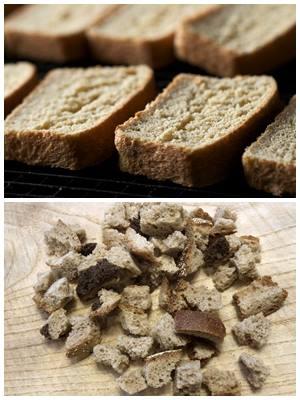 гренки и сухарики из ржаного хлеба