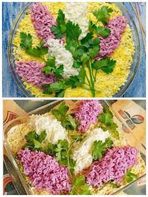 "салат ""Сирень"""