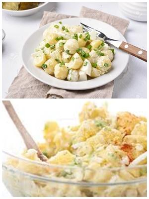 простой салат из яиц и картошки