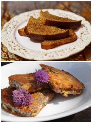 мягкие гренки из черствого черного хлеба