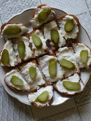 тосты из ржаного хлеба