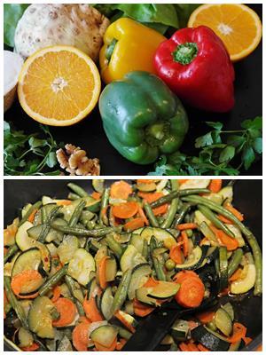 овощи в апельсиновом маринаде