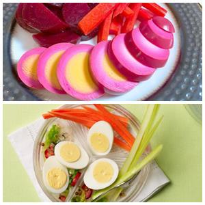 варианты подачи маринованных яиц к столу