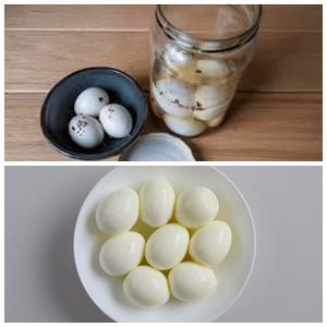 маринованные яйца белого цвета