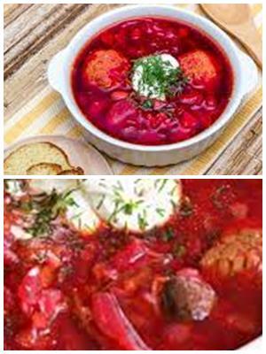 сибирский борщ с фрикадельками и красной фасолью