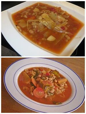 суп из фасоли с капустой