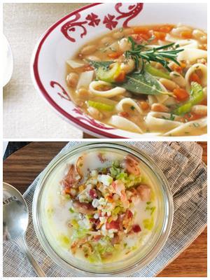 суп из белой фасоли с лапшой