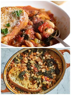 итальянский суп с красной фасолью