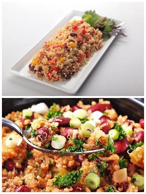 булгур с фасолью и овощами