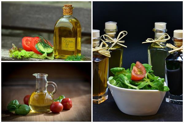заправка для салата с помидорами и огурцами из растительного масла