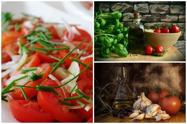 оригинальная заправка для салата из летних овощей