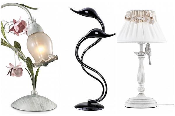 настольные лампы в дизайне интерьера