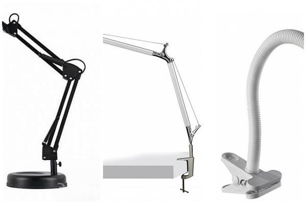 виды конструкции настольных ламп
