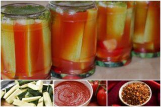 Кабачки «Кровавая Мэри» на зиму: рецепты с кетчупом, томатной пастой, помидорами
