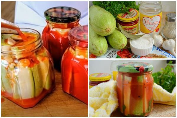 закуска из кабачков в томатном соусе Кровавая Мэри