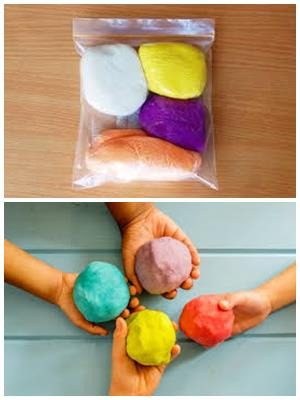 цветное тесто для лепки
