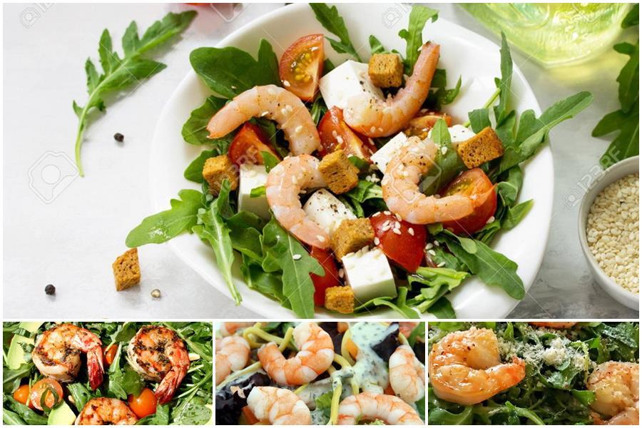 You are currently viewing Легкие салаты из креветок с рукколой: простые рецепты изысканной закуски к праздничному столу