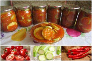 Read more about the article Острый салат «Огонек» из кабачков на зиму: рецепты, особенности приготовления