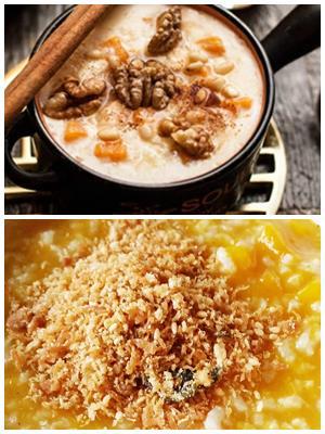 тыквенно-рисовая каша с орехами