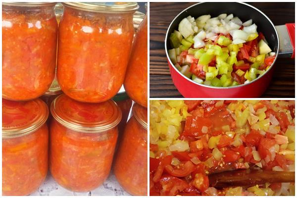 Закуска Натали из кабачков, помидоров и перца на зиму