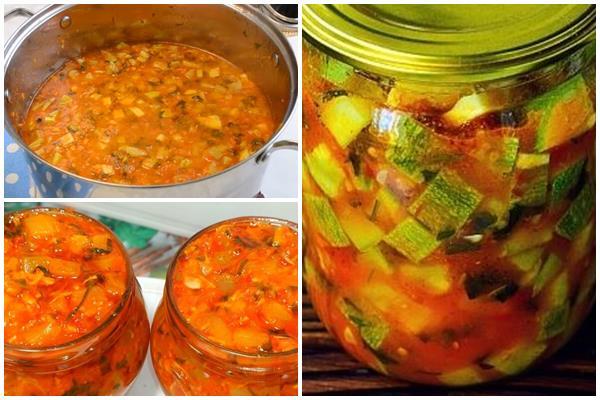 закуска из кабачков Юрча - казахский вариант популярной заготовки на зиму