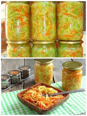 ленинградский салат из кабачков