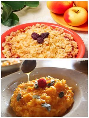 каша из риса и тыквы с яблоками
